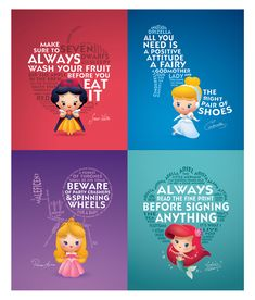 Life Lessons From Princesses - Available at WonderGround Gallery February 1.