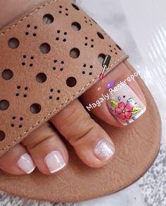 Cute Toe Nails, Cute Toes, Toe Nail Art, Fun Nails, Summer Toe Nails, Beach Nails, Pedicure Designs, Toe Nail Designs, Pedicures