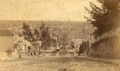 noirish Los Angeles - The view east down 2nd Street from Bunker hill in 1886.