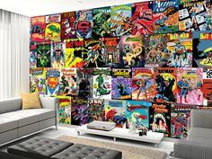 DC Comics Montage wall mural room setting