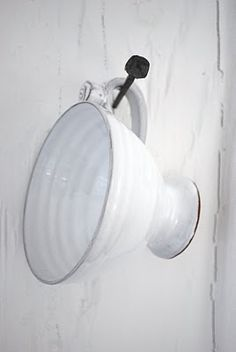 hanging white cup