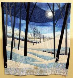 Patchwork quilting designs pictures 19 ideas for 2019 Patchwork Quilting, Applique Quilts, Art Quilting, Quilt Art, Landscape Art Quilts, Nice Landscape, Winter Landscape, Fiber Art Quilts, Quilt Modernen