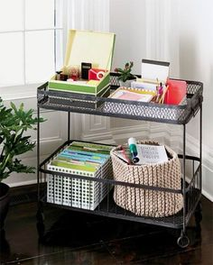 Rolling office cart - http://stores.homestead.com/hudsongoods/-strse-1704/industrial-metal-wire-bar/Detail.bok