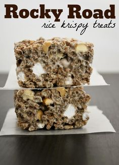 Mallow and Co: Rocky Road Rice Krispy Treats: chocolate marshmellows, cocoa krispies, peanuts