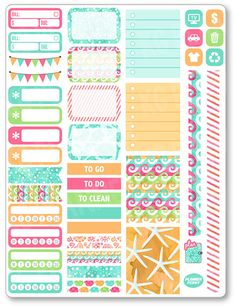Sea Life Functional Kit Planner Stickers for Erin by PlannerPenny