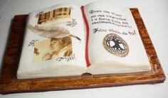 open book cake - tarta libro