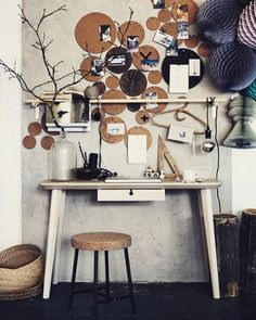 Mai pensato di utilizzare i #sottopentola in #sughero per #decorare una parete o come bacheca? #ideecreative