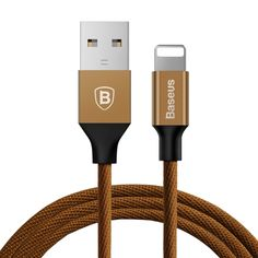 [$2.39] Baseus 1.8m 2A Yiven Cable Woven Style Metal Head 8 Pin to USB Data Sync Charging Cable for iPhone & iPad & iPod(Coffee)