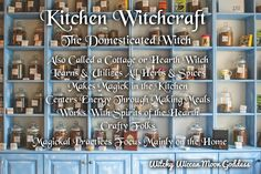 The Many Types of Witchcraft: Kitchen Witchcraft - Modern Types Of Witchcraft, Wicca Witchcraft, Charmed Book Of Shadows, Witchcraft For Beginners, Traditional Witchcraft, Hedge Witch, Wiccan Crafts, Eclectic Witch, Kitchen Witchery
