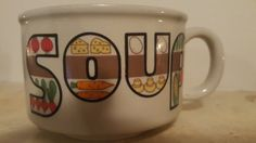 Vintage retro soup bowl/cup by NeeNeeWorld on Etsy