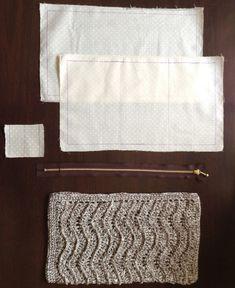 試行錯誤の末、なんとか出来た「編んだものにファスナー付きの内布をつける方法」いきまーす。用意するもの上から内布2枚:今回はポーチの大きさが幅29×高さ16...