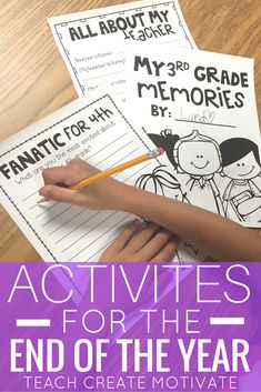 NO prep, print and go, activities for students at the end of the year! Have them reflect on their year and prepare for the next one!