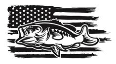 FISHING LIFE WITH BASS 6 X 12 ALUMINUM LICENSE PLATE AMERICAN FLAG BASS FISHING