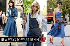 New ways to wear denim: 10 street style-inspired takes on the go-to fabric | Street Style | FASHION Magazine |