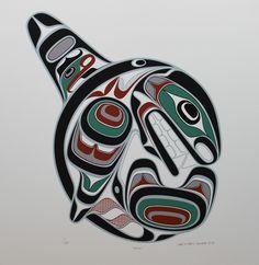 I'm a big fan of both killer whales and Northwest Coast Native art. Haida Tattoo, Orca Tattoo, Whale Tattoos, Arm Tattoos, Native Canadian, Canadian Art, Arte Tribal, Tribal Art, Maori