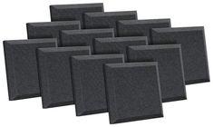 "Gun Case Foam 12/"" x 36/"" x 2/"" inch acoustic foam//studio. 1 piece charcoal"