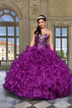 Cheap gowns china, Buy Quality dress tailor directly from China dress export Suppliers: 2016 Purple Cheap Quinceanera Dresses Sweethert Crystals Orgabza Ball Gown Vestidos De 15 Anos Sweet 16 Dresses Sweet 15 Dresses, Sweet Dress, Pretty Dresses, Ball Gown Dresses, Prom Dresses, Formal Dresses, Formal Prom, Dresses 2016, Wedding Dresses