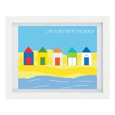 Life Is Better At The Beach Typography Print by ColourscapeStudios