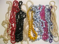 Vintage Jewelry Beaded Necklace Lot for Crafts Upcycle or Wear #unknown