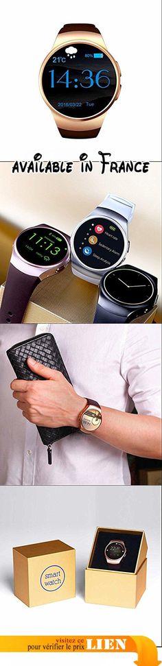 Sport Montre Smartwatch, Podomètre et Alarme de Sédentaire/ Caméra, Anti-Perdu/ rappel sédentaire pour Femme Homme, pour Sport Running Outdoor. Fonctionne comme un vrai téléphone indépendamment, SMS / IM, dialers, contacts, dialer Bluetooth, mémoire appels et messages, appels Bluetooth, calendrier, retardateur, était à distance.. Rappelez-vous moniteur de sommeil Sédentaire, podomètre, tracker sommeil vous permet de maintenir une vie saine à tout moment, en tout