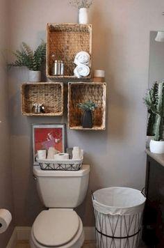 trendy bathroom storage ideas for rentals floating shelves Bathroom Organization, Bathroom Storage, Bathroom Shelves, Ikea Bathroom, Bathroom Interior, Organization Ideas, Small Bathroom, Storage Rental, Beautiful Houses Interior