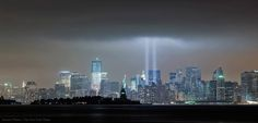 """""""Eighty-eight searchlights beam in tribute to the World Trade Center, Photo by Damon Winter/The New York Times"""" Trade Centre, World Trade Center, New York Times, New York Skyline, History, Day, Travel, Winter, Historia"""