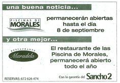 ¡Abrimos el restaurante de las piscinas de Morales del Vino todo el año!