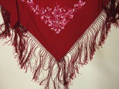 hungarian-handmade-matyo-fringed-shoulder-split-thread-red