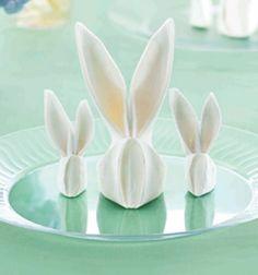 Húsvéti nyuszi szalvéták - szalvétahajtogatás / Mindy - kreatív ötletek és…