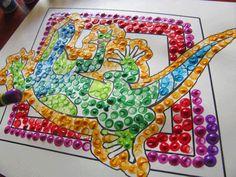 Australian Dot Painting from the Craft Classroom Aboriginal Dreamtime, Aboriginal Dot Art, Australia Crafts, Australia Day, Australian Animals, Australian Art, Native Art, Native American Art, Animal Paintings