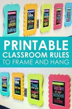 FAQ: All About My Classroom Rule Frames & Subway Art