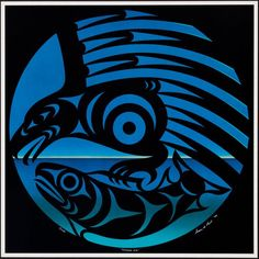 Summer Eve (1994) by Susan Point, Coast Salish (Musqueam) artist (SP1994-09)
