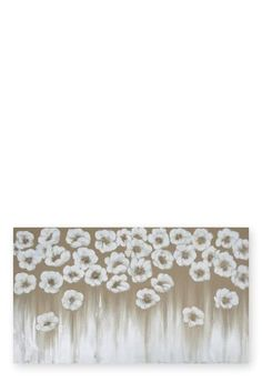 Gold Beaded Floral Canvas