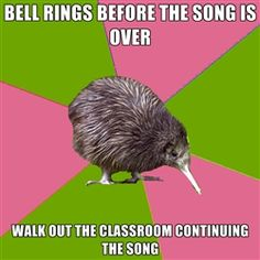Choir Kiwi - BELL RINGS BEFORE THE SONG IS OVER WALK OUT THE CLASSROOM CONTINUING THE SONG