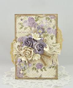 Live & Love Crafts' Inspiration and Challenge Blog: Card for a friend.