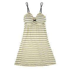 My infatuation with stripes runs deep, all the way down to my undergarments! Eberjey luxury lingerie - Eberjey Coastal Stripes Chemise | Journelle Fine Lingerie