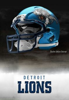 Detroit Lions helmet Charles Sollars concept