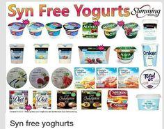 Syn free yogurts