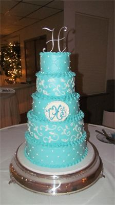 Silver and teal Cakes By Lori - Slide Show - champaign, IL