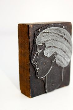 Vintage Wood Printer Stamp/Block by vintagewall on Etsy, $14.00