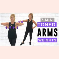 Arm Workout Videos, Workout Videos For Women, Exercise Videos, Exercise Routines, Arm Exercises With Weights, Arm Toning Exercises, Dumbbell Arm Workout, Tone Arms Workout, 14 Day Workouts
