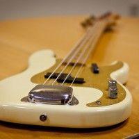 Old School: 1958 Fender Precision Bass Fender P Bass, Fender Precision Bass, Bass Guitars, Vintage Bass, Vintage Guitars, Pvc Bike Racks, Wall Mount Bike Rack, Telecaster Guitar, Cool Inventions