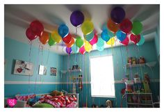 Waking up to Birthday balloons :) Wanted this since I was in single-digits.