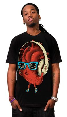 HeartBEAT T-shirt by dzeri29 from Design By Humans. HeartBEAT T-shirt by dzeri29 from Design By Humans.  for