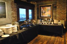 event buffet at Virtue Feed & Grain