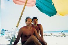 Versace with long-term boyfriend Antonio D'Amico. Antonio worked for Gianni on the Versace Sport line. They were together for 15 years up until Gianni's murder. In his will, Gianni left D'Amico with a pension and the right to live in any of his homes in the U.S. or Italy; however, Gianni's surviving siblings restricted/reduced this.