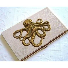 Nautical star business card case astronomical steampunk antiqued octopus business card case gothic victorian nautical steampunk 48 liked reheart Choice Image