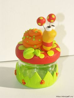 Page not found - DIY and Crafts, Gifts, Handmade Ideias - DIY and Crafts Ideias Cute Polymer Clay, Cute Clay, Fimo Clay, Polymer Clay Projects, Handmade Polymer Clay, Hobbies And Crafts, Diy And Crafts, Clay Fairy House, Clay Jar