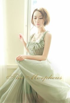 Morpheus Boutique  - Green Elegant Ruffle Pleated Ruffle Designer Celebrity long Dress, $99.99 (http://www.morpheusboutique.com/products/green-elegant-ruffle-pleated-ruffle-designer-celebrity-long-dress.html)