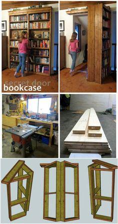 Amazing Hidden Door Bookshelf: - 50 DIY Shelves – Build Your own Shelves